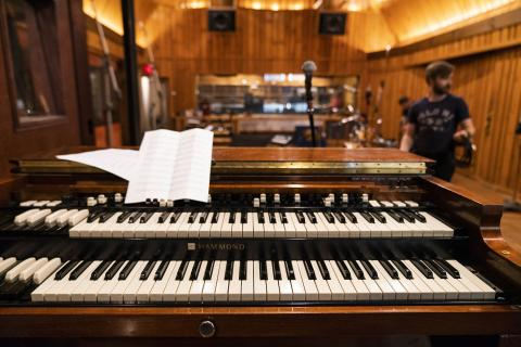 Piano in the Power Station studio