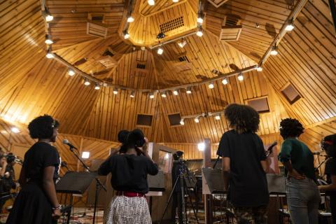 Power Station Studio Cast album Students recording vocals